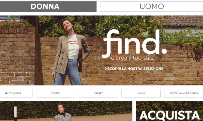 Amazon find abbigliamento negozio online moda